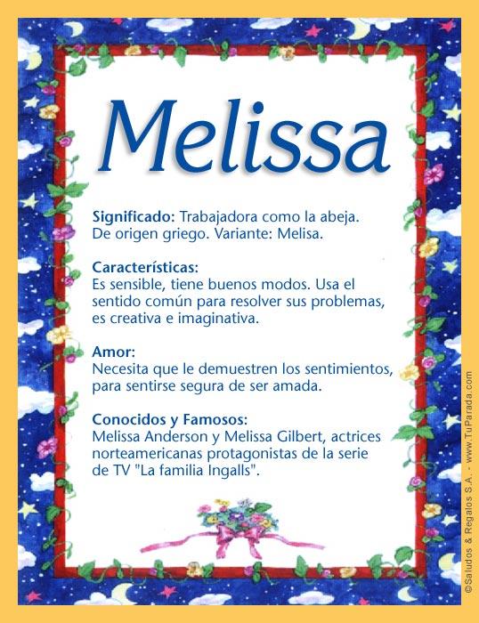 Classroom Decor Usa ~ Melissa significado del nombre nombres