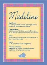 Nombre Madeline
