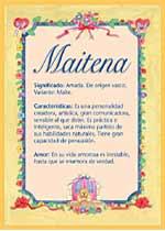 Origen y significado de Maitena