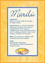 Nombre Marilú
