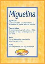 Nombre Miguelina