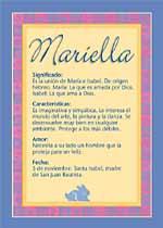 Origen y significado de Mariella
