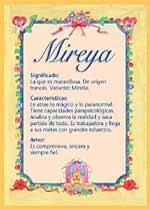 Nombre Mireya