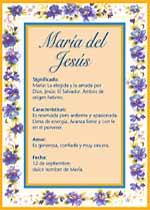 Nombre María del Jesús