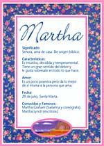 Nombre Martha