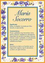 Origen y significado de Maria Socorro