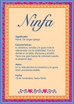 Origen y significado de Ninfa