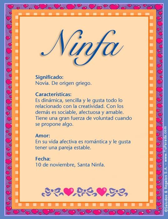 Ninfa, imagen de Ninfa