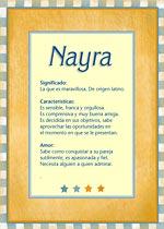 Nombre Nayra