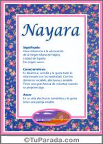 Nombre Nayara