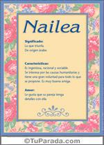 Nombre Nailea