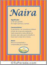 Origen y significado de Naira