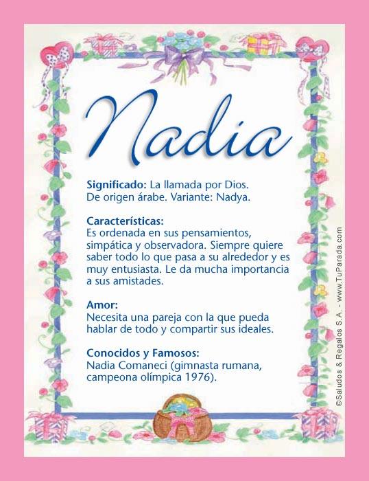 Nadia, imagen de Nadia