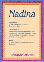 Nombre Nadina