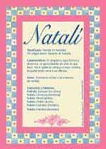 Origen y significado de Natalí