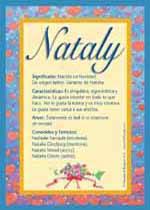 Origen y significado de Nataly