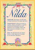 Nombre Nilda