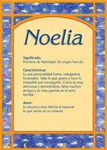 Nombre Noelia