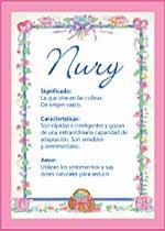Nombre Nury
