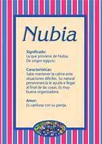 Nombre Nubia