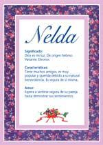 Nombre Nelda