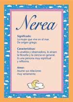 Origen y significado de Nerea