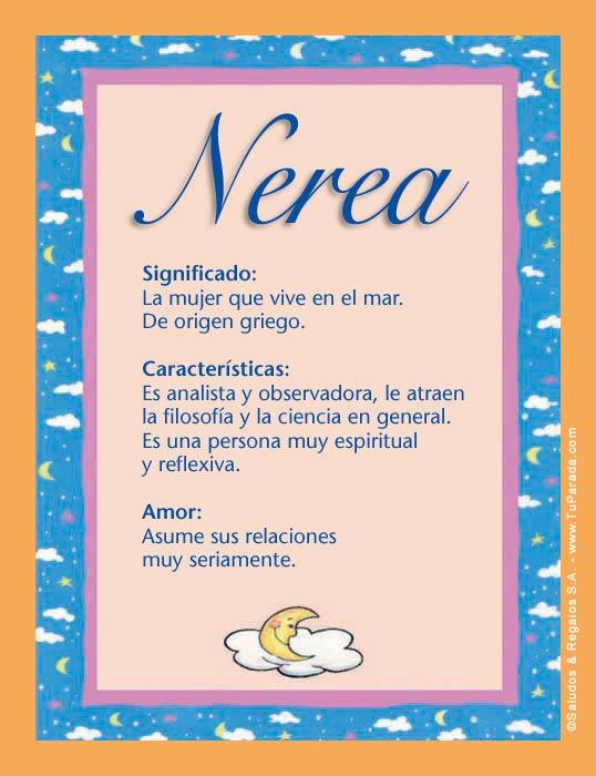 Nerea, imagen de Nerea