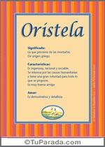 Nombre Oristela