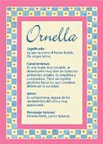 Nombre Ornella