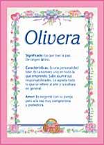 Nombre Olivera