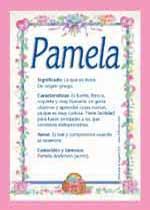 Nombre Pamela