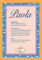 Origen y significado de Paola