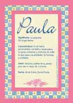 Origen y significado de Paula