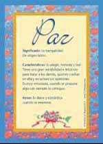 Nombre Paz