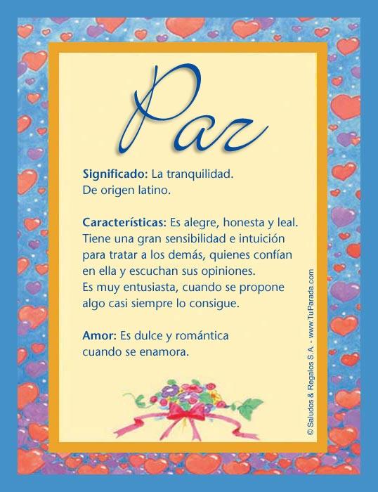 Paz, imagen de Paz