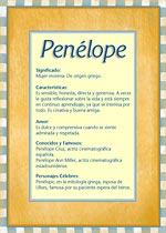 Nombre Penélope