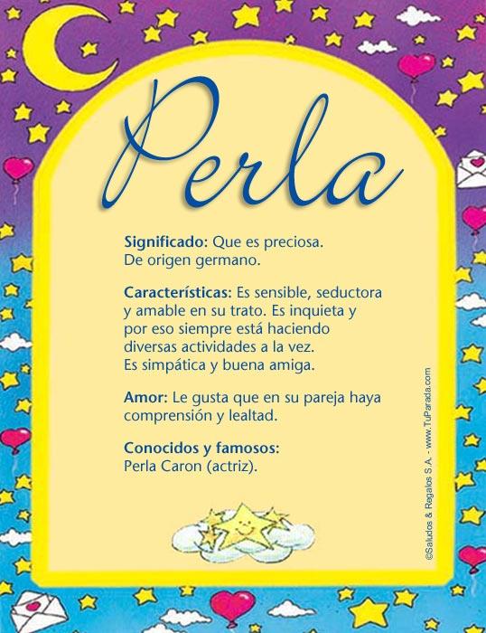 Perla, imagen de Perla