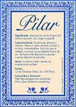 Nombre Pilar