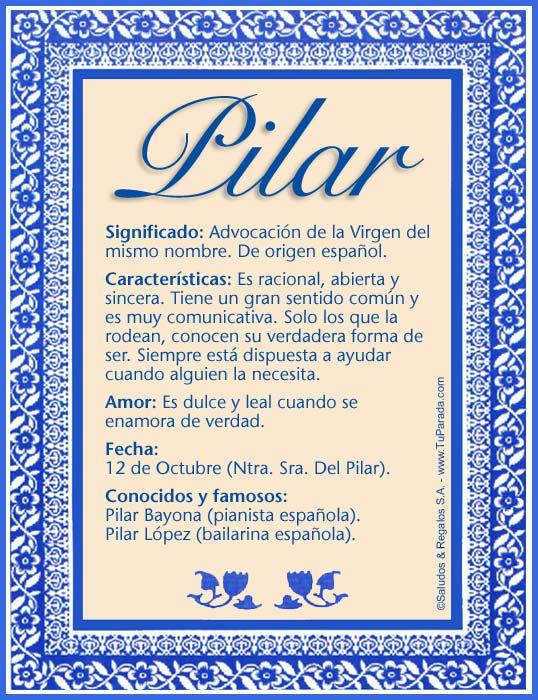 Pilar, imagen de Pilar