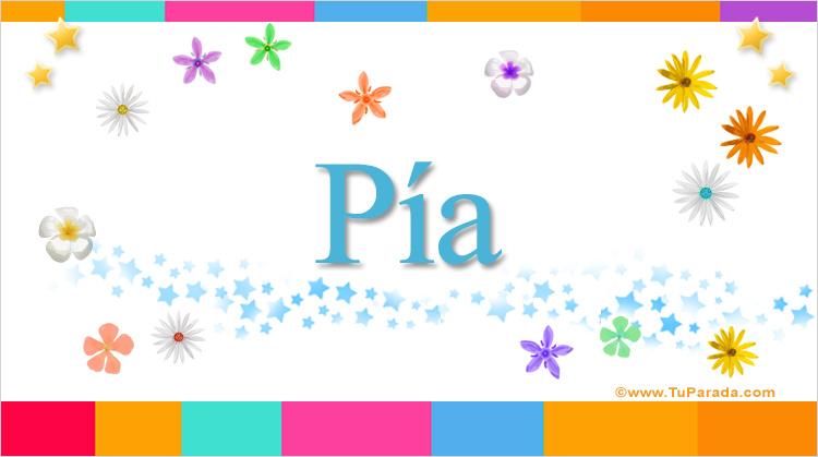 Pía, imagen de Pía