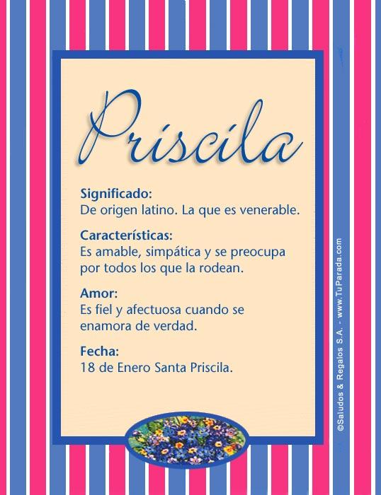 Priscila, imagen de Priscila