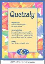 Nombre Quetzaly