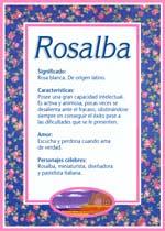 Origen y significado de Rosalba