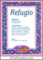 Origen y significado de Refugio