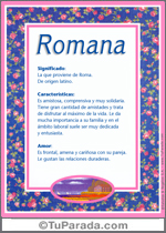 Nombre Romana