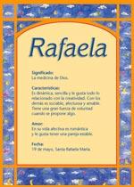 Origen y significado de Rafaela