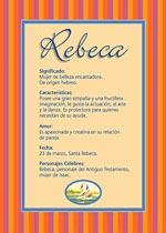 Origen y significado de Rebeca