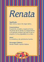 Origen y significado de Renata