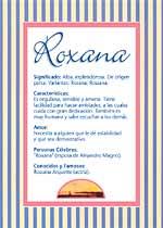 Nombre Roxana