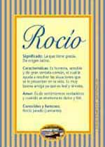 Origen y significado de Rocío